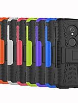 Недорогие -Кейс для Назначение Motorola Moto G6 Play / Moto G6 Plus Защита от удара / со стендом Кейс на заднюю панель Плитка / броня Твердый ПК для Moto Z Force / MOTO G6 / Moto G6 Play