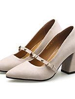 abordables -Femme Escarpins Daim Printemps Chaussures à Talons Talon Bottier Beige / Rouge / Rose