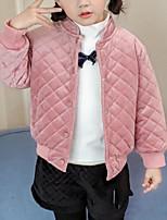 cheap -Kids Girls' Plaid Long Sleeve Jacket & Coat