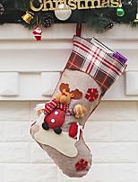 baratos -Meias Finas / Armazenamento para artigos Natalinos Natal Tecido Novidades Decoração de Natal