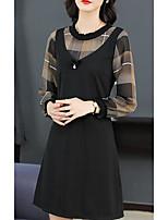 preiswerte -Damen Hülle Kleid Verziert Übers Knie