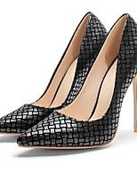 Недорогие -Жен. Комфортная обувь Полиуретан Лето Обувь на каблуках На шпильке Коричневый / Красный / Синий