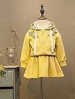 Недорогие -Дети / Дети (1-4 лет) Девочки Однотонный / Цветочный принт Длинный рукав Набор одежды