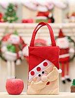 Недорогие -Сумка / Хранение новогодних аксессуаров Новогодняя тематика Ткань Квадратный Оригинальные Рождественские украшения