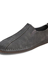 cheap -Men's Comfort Shoes PU(Polyurethane) Fall Loafers & Slip-Ons Black / Gray / Brown
