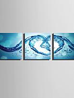 Недорогие -С картинкой Роликовые холсты / Отпечатки на холсте - Абстракция / Любовь и сердца Modern