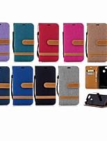 Недорогие -Кейс для Назначение Huawei P20 Pro / P smart Кошелек / Бумажник для карт / со стендом Чехол Однотонный Твердый текстильный для Huawei P20 / Huawei P20 Pro / Huawei P20 lite / P10 Plus / P10 Lite