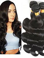 Недорогие -3 Связки Индийские волосы / Вьетнамские волосы Естественные кудри Натуральные волосы / Необработанные натуральные волосы Подарки / Косплей Костюмы / Человека ткет Волосы 8-28 дюймовый