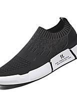 Недорогие -Муж. Комфортная обувь Сетка / Эластичная ткань Осень На каждый день Кеды Нескользкий Контрастных цветов Черный / Серый