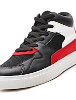 Недорогие -Муж. Комфортная обувь Сетка Осень На каждый день Кеды Дышащий Белый / Черный