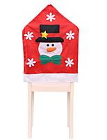 baratos -Cobertura de Cadeira / Ornamentos Natal Tecido Novidades Decoração de Natal
