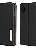 baratos -Capinha Para Apple iPhone XR / iPhone XS Max Antichoque / Com Suporte / Flip Capa Proteção Completa Sólido Rígida couro legítimo / PC para iPhone XR / iPhone XS Max