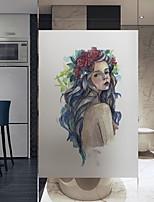 Недорогие -Оконная пленка и наклейки Украшение Художественные / Ретро Персонажи ПВХ Новый дизайн / обожаемый / Cool