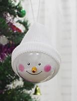 baratos -Ornamentos Natal Tecido / Plástico Redonda Novidades Decoração de Natal