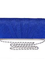baratos -Mulheres Bolsas Poliéster Bolsa de Festa Botões Vermelho / Prateado / Azul Real
