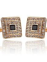 baratos -Forma Geométrica / Botão Prata / Dourado Botões de Punho Liga Europeu / Fashion Homens Jóias de fantasia Para Casamento / Festa