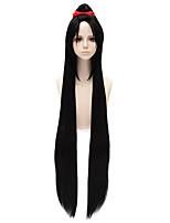 Недорогие -Косплэй парики / Парики из искусственных волос Прямой Стрижка каскад Искусственные волосы 32 дюймовый Косплей Синий Парик Жен. Очень длинный Без шапочки-основы Черный