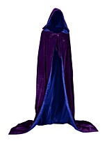 Недорогие -ведьма Вампиры Пальто Косплэй Kостюмы Костюм для вечеринки Костюм Новогоднее платье Универсальные Взрослые Накидка Хэллоуин Рождество Хэллоуин Карнавал Фестиваль / праздник Костюмы на Хэллоуин