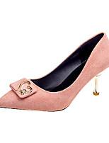 Недорогие -Жен. Балетки Полиуретан Осень На каждый день Обувь на каблуках На шпильке Черный / Розовый / Миндальный / Повседневные