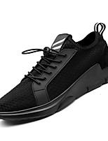 Недорогие -Муж. Комфортная обувь Сетка / Полиуретан Осень На каждый день Кеды Нескользкий Контрастных цветов Черный / Черно-белый