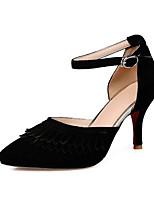 Недорогие -Жен. Комфортная обувь Синтетика Весна Обувь на каблуках На шпильке Светло-серый / Красный / Синий