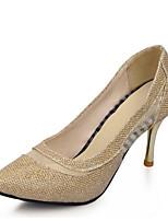 abordables -Femme Chaussures de confort Daim / Microfibre Printemps Chaussures à Talons Talon Aiguille Noir / Marron / Brun claire