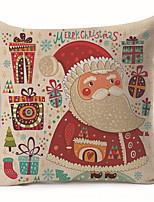abordables -Housse de coussin Noël / Vacances Polyester Rectangulaire Soirée / Nouveautés Décoration de Noël