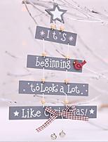 Недорогие -Орнаменты Новогодняя тематика деревянный Прямоугольный Оригинальные Рождественские украшения