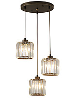 cheap -3-Light Crystal Pendant Light Ambient Light - Crystal, Mini Style, 110-120V / 220-240V Bulb Not Included