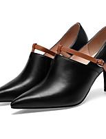 Недорогие -Жен. Комфортная обувь Наппа Leather Осень Свадебная обувь На шпильке Белый / Черный / Свадьба