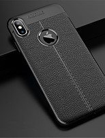 cheap -Case For Apple iPhone XS / iPhone XR Embossed Back Cover Solid Colored Soft PU Leather for iPhone XS / iPhone XR / iPhone XS Max