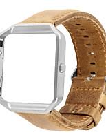 abordables -Bracelet de Montre  pour Fitbit Blaze Fitbit Bracelet en Cuir Vrai Cuir Sangle de Poignet