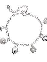 Недорогие -С кисточками лодыжке браслет - Сердце Художественный Серебряный Назначение На выход Бикини Жен.
