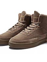 Недорогие -Муж. Комфортная обувь Полиуретан Осень На каждый день Кеды Нескользкий Черный / Красный / Хаки