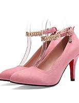 Недорогие -Жен. Балетки Полиуретан Весна Обувь на каблуках На шпильке Черный / Красный / Розовый