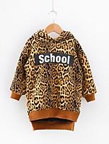 Недорогие -Дети / Дети (1-4 лет) Девочки Леопард Длинный рукав Платье
