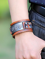 cheap -Men's Vintage Style / Stylish Vintage Bracelet / Leather Bracelet - Creative Vintage, Punk, Ethnic Bracelet Brown For Gift / Street
