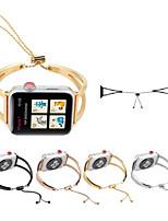 Недорогие -Ремешок для часов для Apple Watch Series 4/3/2/1 Apple Современная застежка Металл / Нержавеющая сталь Повязка на запястье