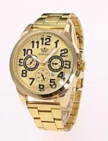 Недорогие -Муж. Нарядные часы Наручные часы Кварцевый Календарь Новый дизайн Повседневные часы сплав Группа Аналоговый На каждый день Мода Золотистый - Золотой Черный Один год Срок службы батареи