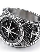 billiga -Herr Vintage Stil / Skulptur Ring - Rostfri Ankare Stilig, Vintage, Punk 8 / 9 / 10 Silver Till Dagligen / Street