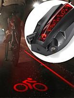 Недорогие -задние фонари Лазер / Светодиодная лампа Велосипедные фары Велоспорт Водонепроницаемый, Творчество, Прочный Перезаряжаемая батарея 100 lm Красный Велосипедный спорт