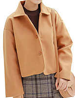 cheap -Women's Basic Jacket - Solid Colored