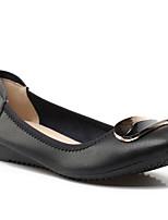 Недорогие -Жен. Комфортная обувь Наппа Leather Лето На плокой подошве На плоской подошве Закрытый мыс Белый / Черный / Розовый
