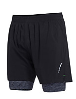 cheap -Men's With Inner Shorts / Elastic Waistband Running Shorts Sports Fashion Shorts Yoga, Fitness, Workout Activewear Quick Dry, Breathable High Elasticity Slim, Loose