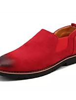 baratos -Homens Sapatos Confortáveis Camurça Outono Casual Mocassins e Slip-Ons Use prova Cinzento / Marron / Vermelho