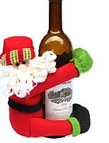 baratos -Sacos e Transportadores de Vinho Natal / Férias Tecido de Algodão Cubo Novidades Decoração de Natal