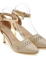Недорогие -Жен. Балетки Полиуретан Весна Обувь на каблуках На шпильке Золотой / Серебряный