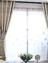 cheap -Sheer Curtains Shades Bedroom Floral / Geometric Polyester Printed