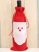 baratos -Decorações de férias Decorações Natalinas Enfeites de Natal Criativo / anti derrapante Vermelho 1pç