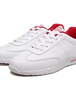 """Недорогие -Муж. Комфортная обувь Искусственная кожа Весна & осень На каждый день / Стиль """"Школьная форма"""" Кеды Белый / Черно-белый / Розовый и белый"""